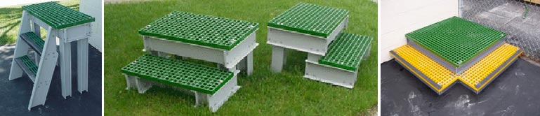 Protable Composite Step Platforms