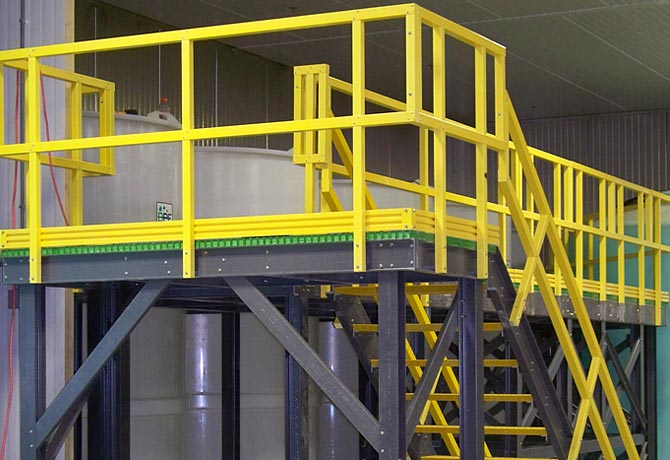 Composite Access Platforms Ultra Fiberglass Systems